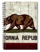 Rustic California State Flag Design Spiral Notebook