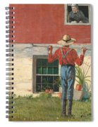 Rustic Courtship Spiral Notebook