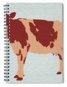 Rustic Cow Spiral Notebook