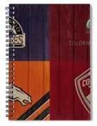 Rustic Denver Sports Teams Spiral Notebook