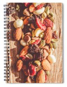 Rustic Dried Fruit And Nut Mix Spiral Notebook
