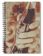 Rustic Drinks Advertising  Spiral Notebook