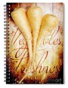 Rustic Farm Kitchen Tin Sign Spiral Notebook