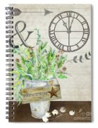 Rustic Farmhouse Our Happy Place Spiral Notebook