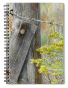 Rustic Fence And Wild Flowers Montana Spiral Notebook