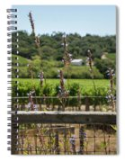 Rustic Fence In Wine Country Spiral Notebook