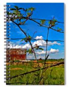 Rustic Frame Paint Spiral Notebook