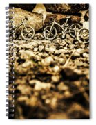 Rustic Mountain Bikes Spiral Notebook