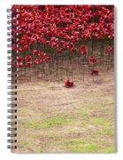 Rustic Poppy Garden Spiral Notebook