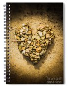 Rustic Rock Romance Spiral Notebook