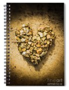 Rustic Rock Romance Spiral Notebook