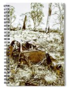 Rustic Rural Decay Spiral Notebook