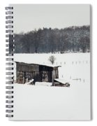 Rustic Shed In The Winter Spiral Notebook