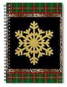 Rustic Snowflake-jp3692 Spiral Notebook