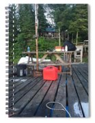 Rustic Summer Dock Spiral Notebook
