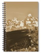 Rustic View Of Grand Teton Spiral Notebook