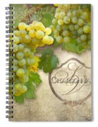 Rustic Vineyard - Chardonnay White Wine Grapes Vintage Style Spiral Notebook