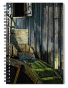 Rustic Water Wheel With Moss Spiral Notebook