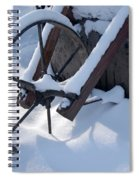 Rustic Wheel In The Snow#2 Spiral Notebook