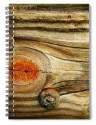Rustic Wood Spiral Notebook