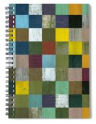 Rustic Wooden Abstract Spiral Notebook