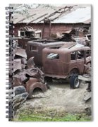 Rusting Antique Cars Spiral Notebook