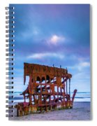 Rusting Peter Iredale Spiral Notebook