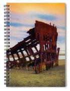 Rusting Shipwreck Spiral Notebook