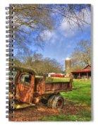 Rusty 1947 Dodge Dump Truck Spiral Notebook
