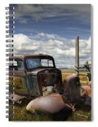 Rusty Auto Wreck Out West Spiral Notebook