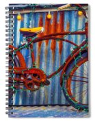 Rusty Bike With Lights Spiral Notebook