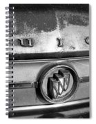 Rusty Buick Emblem Black And White Spiral Notebook