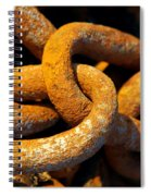 Rusty Chain Spiral Notebook