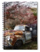 Rusty Chevy Pickup Truck Spiral Notebook