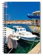 Rusty Fishing Boat In Sali Harbor Spiral Notebook
