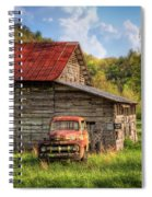 Rusty Ford At The Barn Spiral Notebook