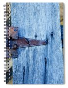 Rusty Hinge In The Blue Of The Evening Spiral Notebook