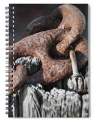 Rusty Iron Chain Railing Fragment Spiral Notebook