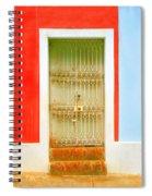 Rusty Iron Door Spiral Notebook