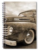 Rusty Jewel In Sepia - 1948 Ford Spiral Notebook