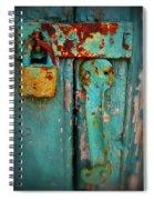 Rusty Lock Spiral Notebook