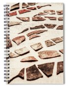 Rusty Metal Leaves Cut With Scissors Spiral Notebook