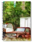 Rusty Old Abandoned Truck 1 Spiral Notebook