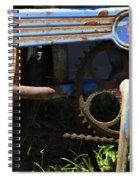 Rusty Old Bicycle . 7d15946 Spiral Notebook