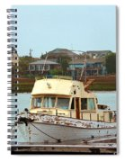 Rusty Old Boat Spiral Notebook
