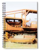Rusty Old Bull Dozer Spiral Notebook