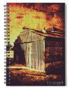 Rusty Outback Australia Shed Spiral Notebook