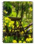 Rusty Plow In Daffodils  Spiral Notebook