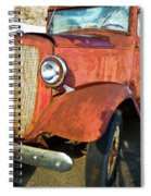 Rusty Red Chevrolet Pickup Truck 1934 Spiral Notebook