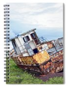 Rusty Retired Fishing Boat Spiral Notebook
